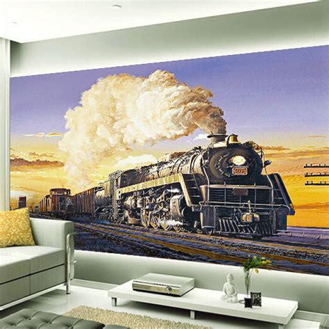 size wall murals custom any size 3d wall mural stereoscopic wallpaper vintage steam wallpaper murals 3d