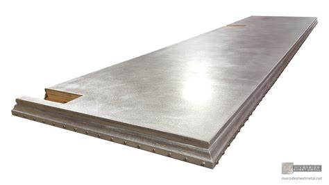 zinc bar tops zinc bar top with custom edge rivets and a satin finish