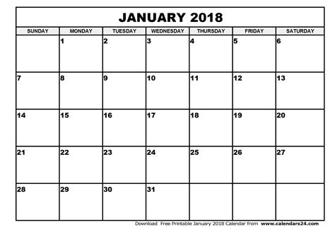 printable calendar for january 2018 january 2018 calendar february 2018 calendar