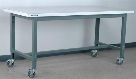 mobile work table stackbin workbenches 1012 series mobile work bench