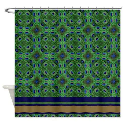 Peacock Blue Bathroom Accessories Peacock Kaleidoscope Pattern Shower Curtain On
