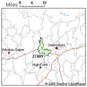 best place to live in greensboro zip 27409 carolina