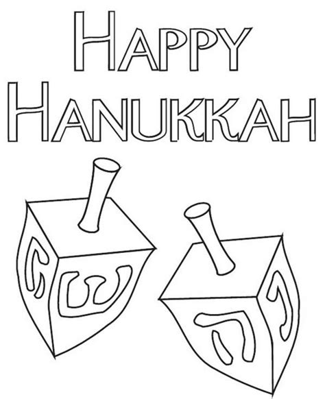 hanukkah dreidel coloring pages preschool hanukkah best