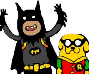 Jake And Finn Batman And Robin Zenfone 3 Ze552kl 55 Casing Premiu adventure time batman and robin