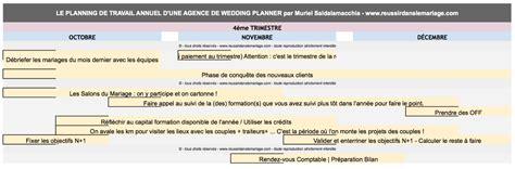 outil planning annuel de travail pour wedding planner