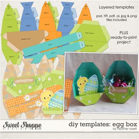 1000 Images About Diy Paper Gift Box Bag Templates Projects On Pinterest Egg Packaging Template