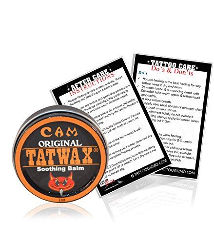 tattoo aftercare exercise tatwax tattoo after care soothing balm tattoo color