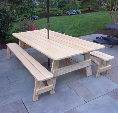 custom 8 pine picnic table country furniture