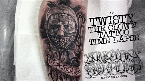 tattoo girl on american horror story american horror story twisty the clown tattoo time lapse