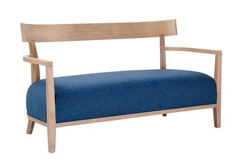 divanetti in legno divanetto a due posti con schienale in legno idfdesign