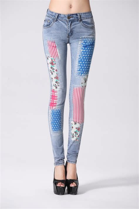 jeans pattern ladies technology coloured drawing jeans boots cut pants trousers