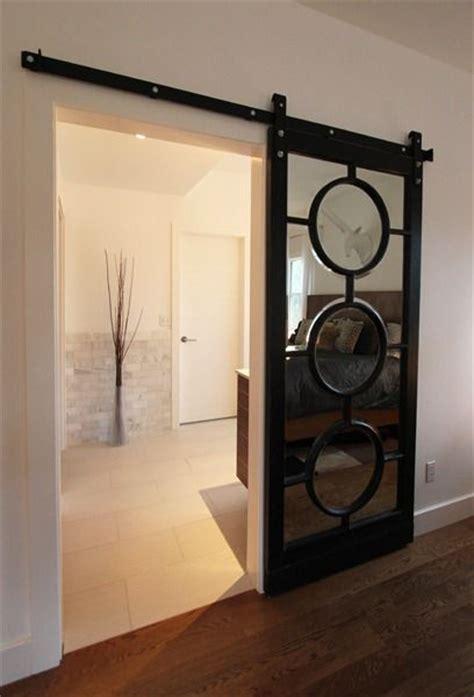 Mirrored Sliding Barn Door Mirrored Sliding Barn Door Home