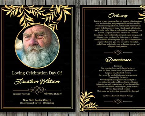 memorial card templates 12 printable funeral card templates free word pdf psd