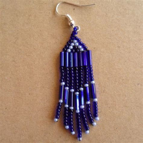 bead earrings how to make how to make bugle bead earrings with fringe via