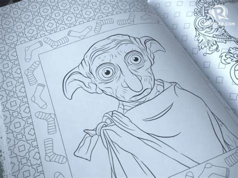 harry potter coloring book filled in check out the new harry potter magical creatures