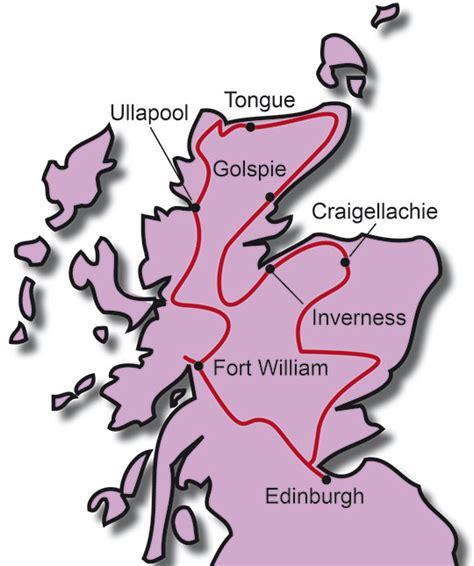 Motorradtour Route by Motorradtouren Schottland Motorradreise