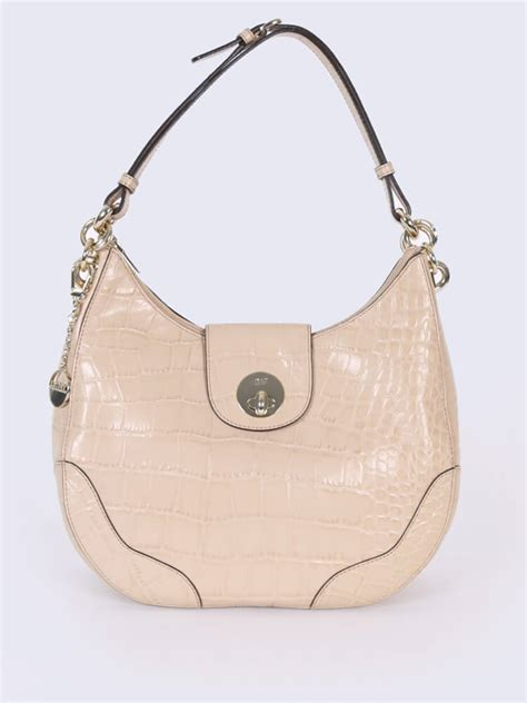 Hobo Croco With Owl Charm Set dkny croco style leather hobo bag beige luxury bags