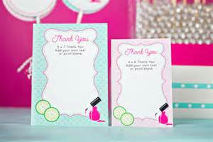 spa thank you card instant printable thank you card