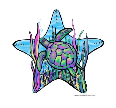 sea tattoo designs rainbow sea turtle design ideas