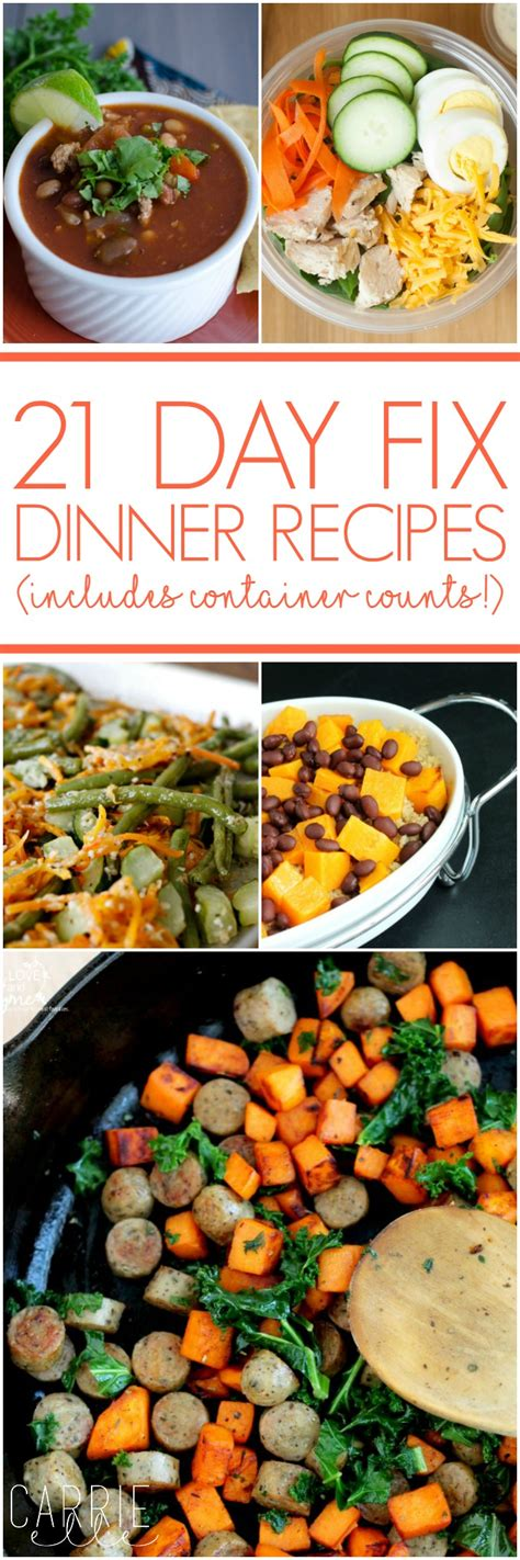21 day fix dinner recipes carrie elle