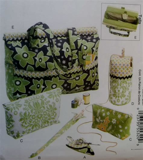 yarn keeper pattern mccall s m6256 project tote organizer knitting needle