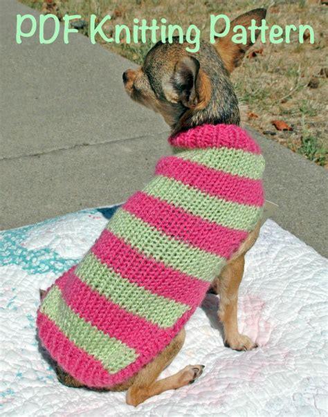knitting pattern dog jersey easy cute dog sweater knitting pattern