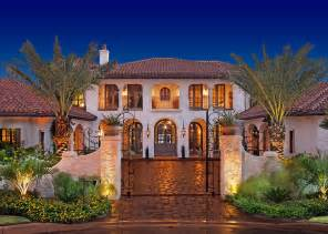 Mediterranean Style Mansions Wrought Iron Gates Interior Design Ideas