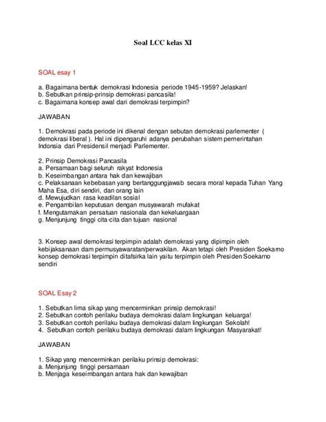 Sejarah Indonesia Sma Kelasxi Semester1 soal lcc 3 kelas xi
