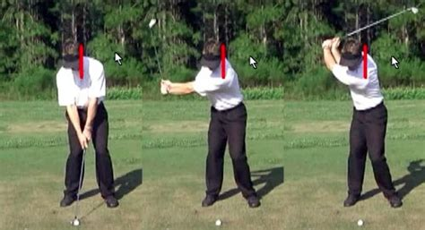 leg movement in golf swing quick tips to control your head the outside of it for