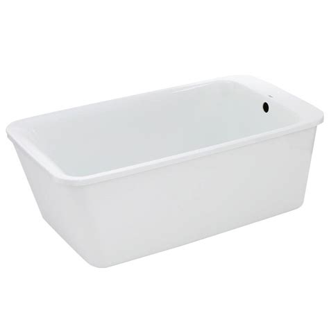 Maax Bathtubs Home Depot by Maax Lounge 5 3 Ft Freestanding Reversible Drain Bathtub