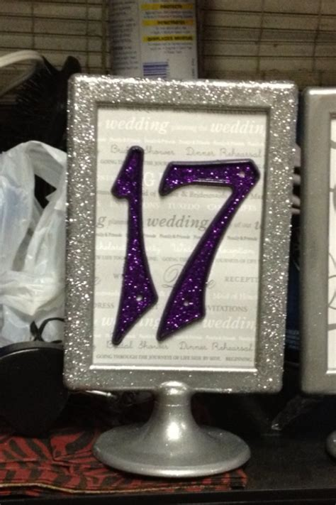silver frames for wedding table numbers my table numbers revised weddingbee photo gallery