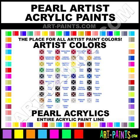 pearl artist acrylic paint colors pearl artist paint colors artist color artist acrylics