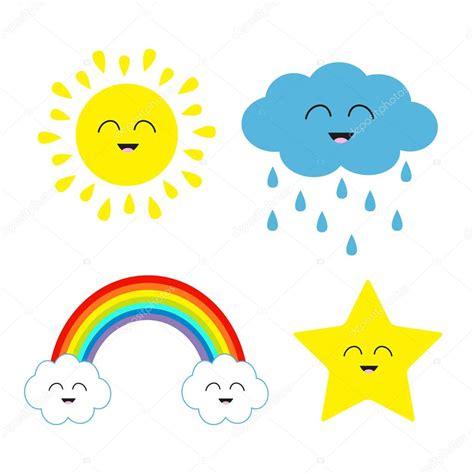 imagenes de estrellas kawaii conjunto de dibujos animados cute kawaii vector de stock