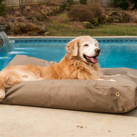 waterproof pet bed replacement cover waterproof rectangle dog bed outdoor dog bed snoozer products