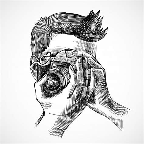 Aparat Fotograficzny Szkic Wektory Zdjęcia I Pliki Psd Darmowe Pobieranie Vector Image Black White Sketch
