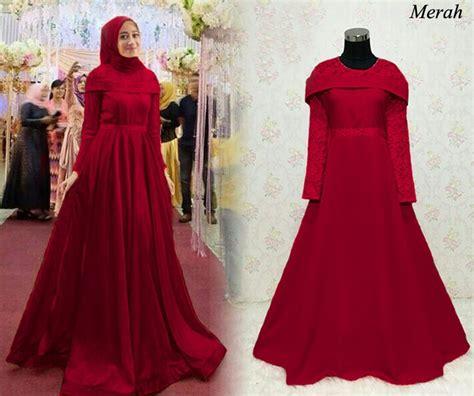 Gamis Pesta Warna Merah Marun ッ 20 model gaun pesta warna merah paling modis fashion