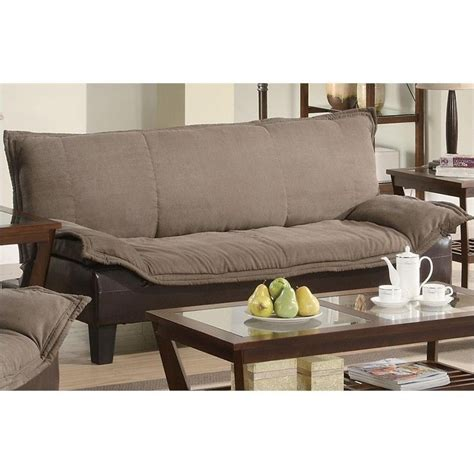 coaster two tone microfiber sofa in brown 300301