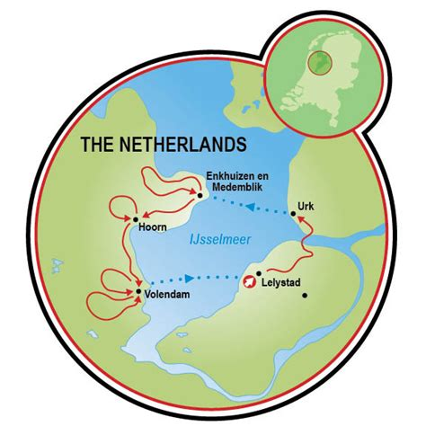 map ijsselmeer netherlands bike and sail the zuiderzee coast bike and boat tour