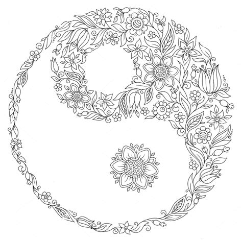 yin yang coloring pages yin yang zentangle coloring page paper crafting