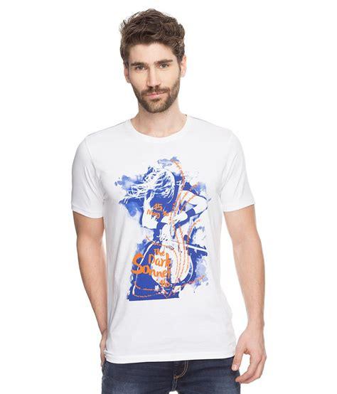 Printed Shirt 2 spykar white printed t shirt buy spykar white printed t shirt at low price snapdeal