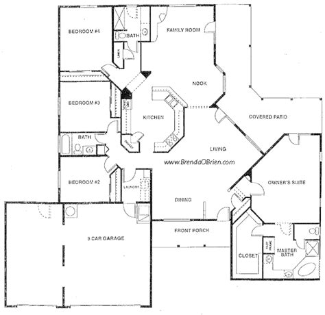 floor plans for large family home house design plans