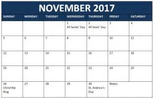 Calendar 2017 November Editable November 2017 Calendar Editable