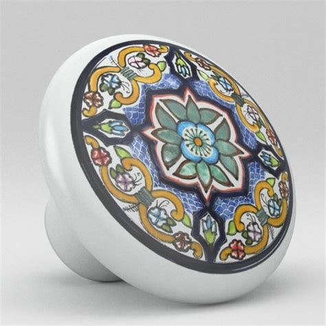 ceramic knobs for kitchen cabinets round talavera design ceramic knobs pulls kitchen drawer