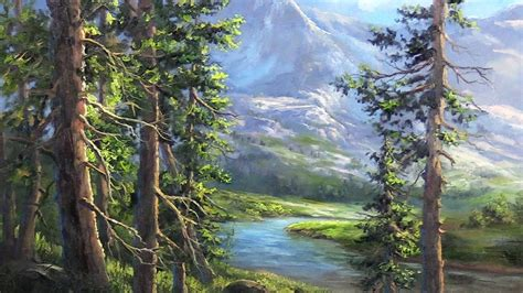 the mountain landscape painting