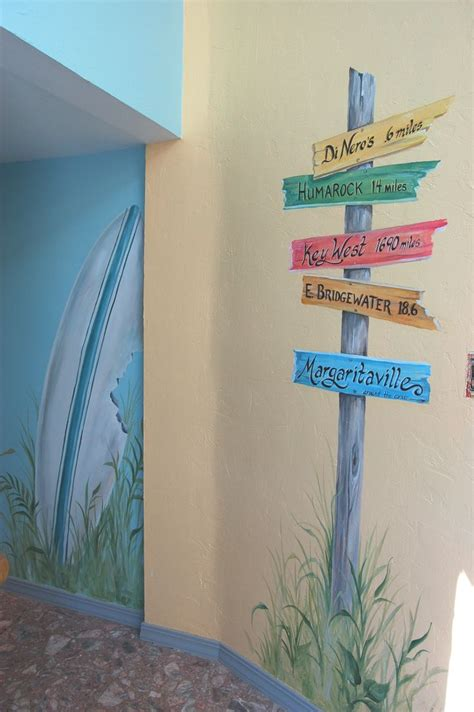 how to paint a wall mural in a bedroom hand painted beach mural in hallway beach themed room