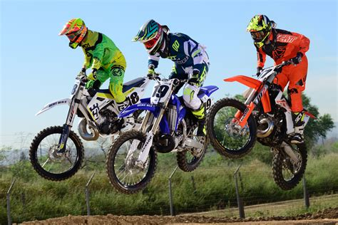 2 stroke motocross dirt bike magazine friday wrap up 2 stroke mx shootout