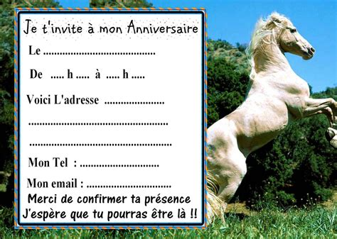 invitation anniversaire cheval long hairstyles