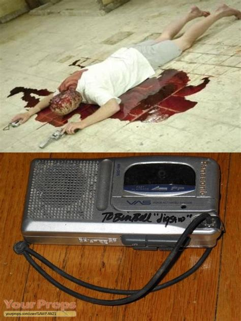 saw iii jigsaws autographed hero tape recorder used in