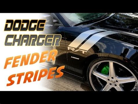 dodge charger rt fender vinyl stripes decals youtube