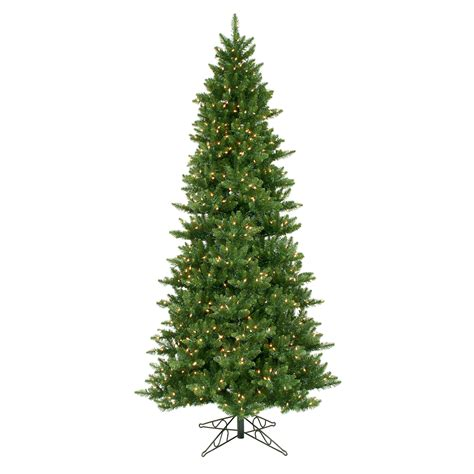 12 foot slim camdon fir christmas tree all lit lights